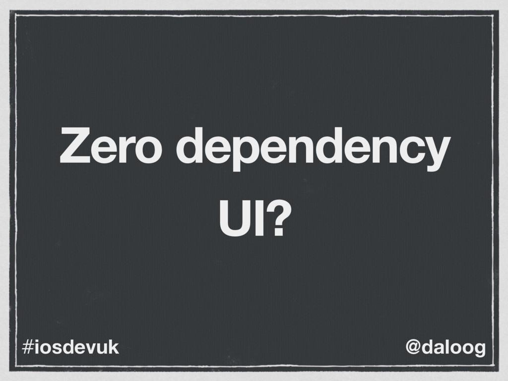 @daloog #iosdevuk Zero dependency UI?