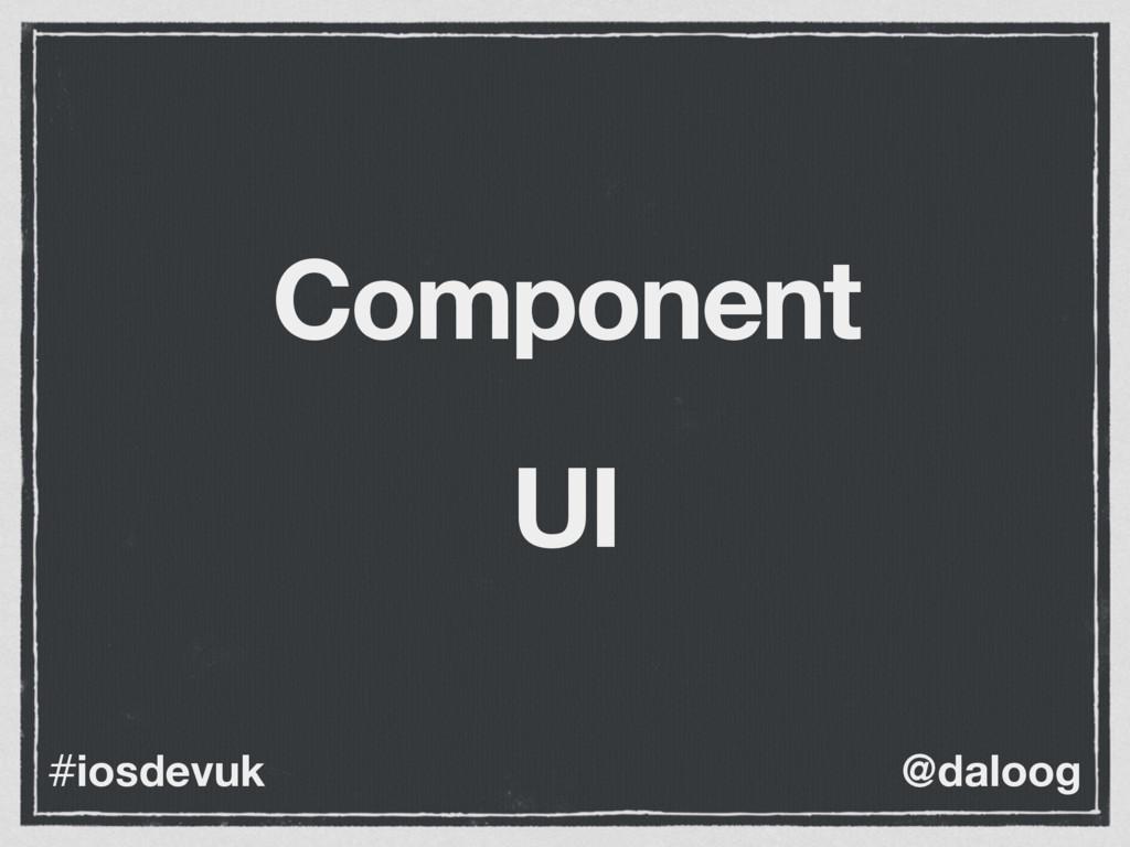 @daloog #iosdevuk Component UI