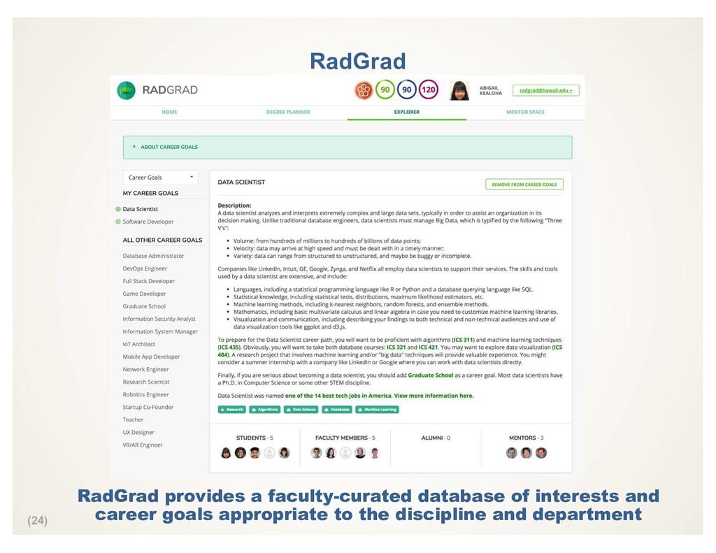 (24) RadGrad RadGrad provides a faculty-curated...