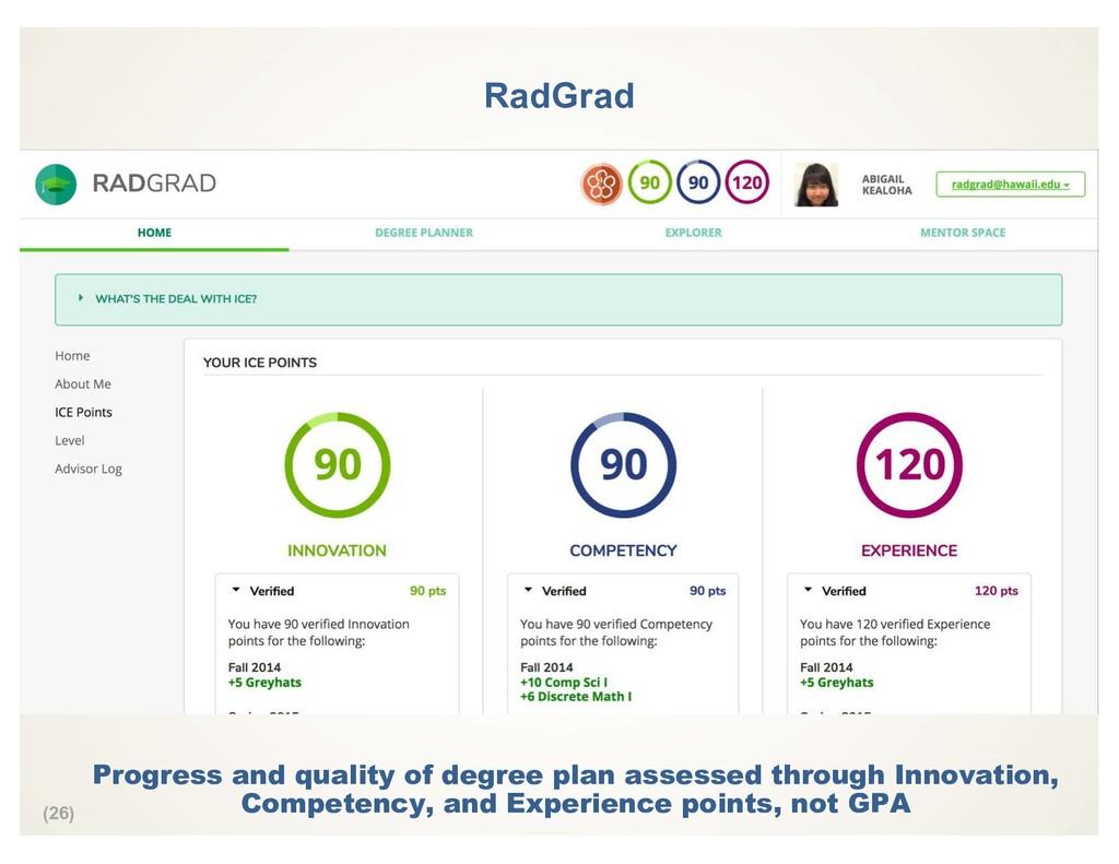 (26) RadGrad Progress and quality of degree pla...