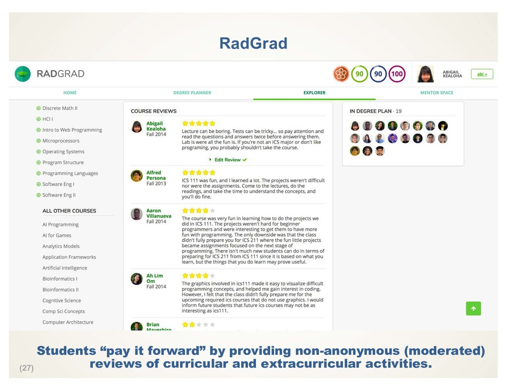 "(27) RadGrad Students ""pay it forward"" by provi..."