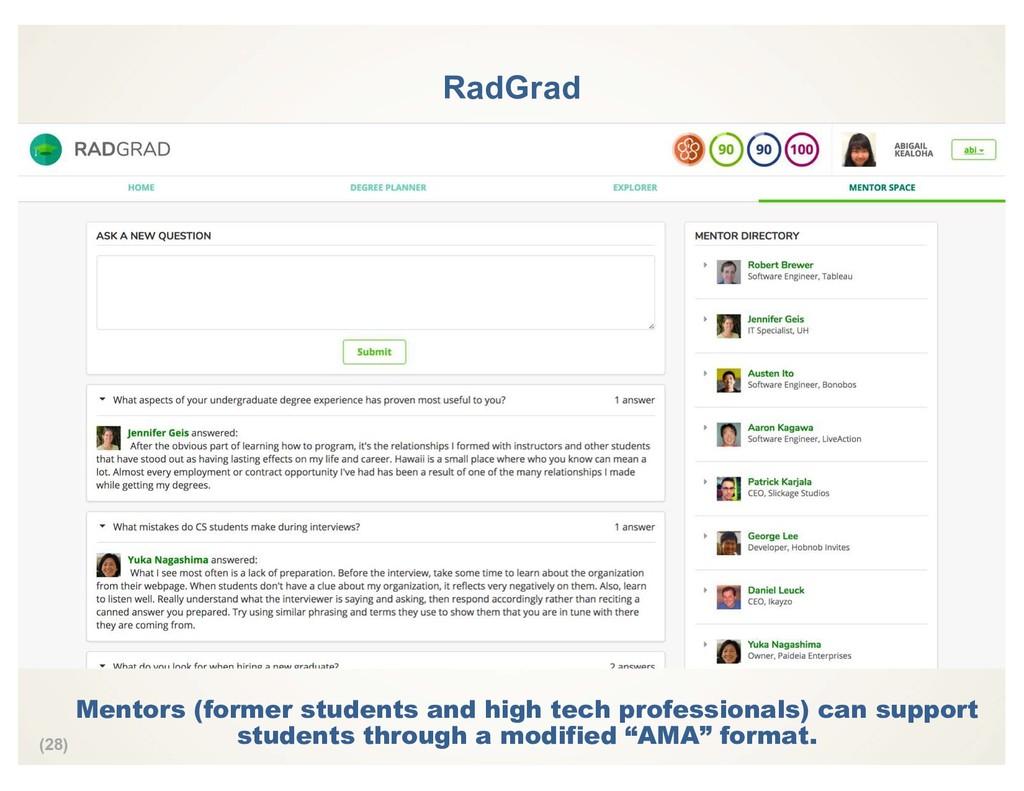(28) RadGrad Mentors (former students and high ...