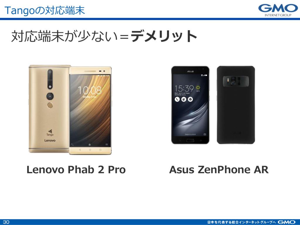 Tangoの対応端末 対応端末が少ない=デメリット Lenovo Phab 2 Pro Asu...