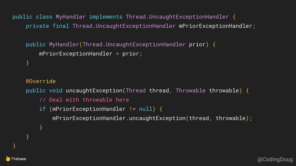 public class MyHandler implements Thread.Uncaug...