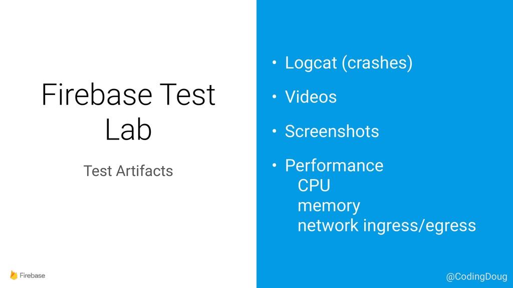 Firebase Test Lab Test Artifacts • Logcat (cras...