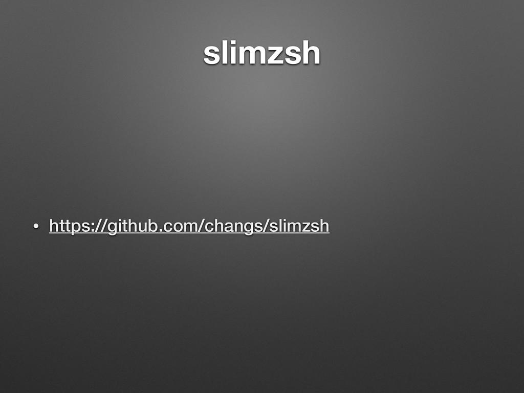 slimzsh • https://github.com/changs/slimzsh