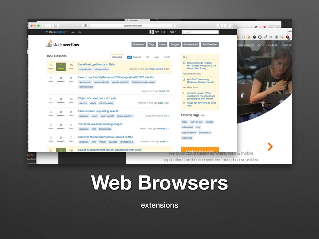 Web Browsers extensions