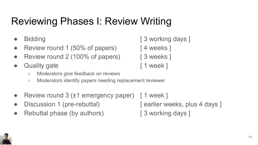 Reviewing Phases I: Review Writing ● Bidding [ ...