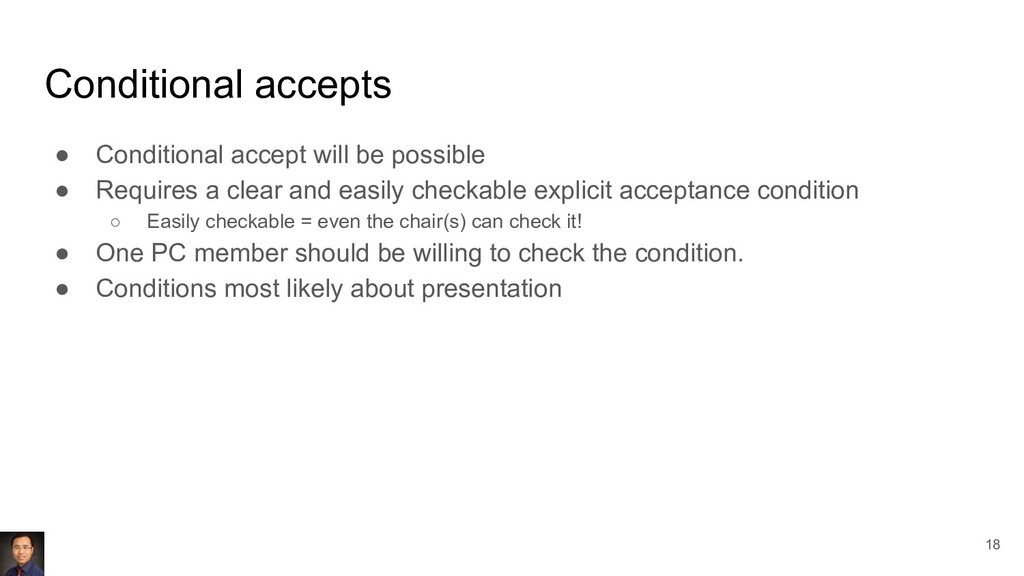 Conditional accepts ● Conditional accept will b...