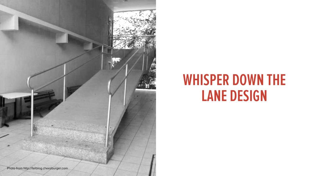 WHISPER DOWN THE LANE DESIGN Photo from http://...