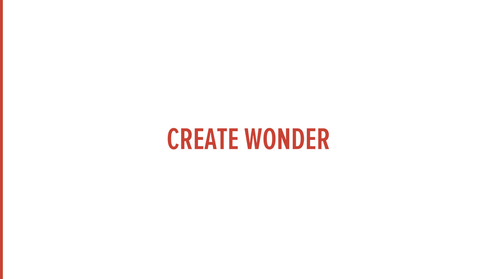 CREATE WONDER