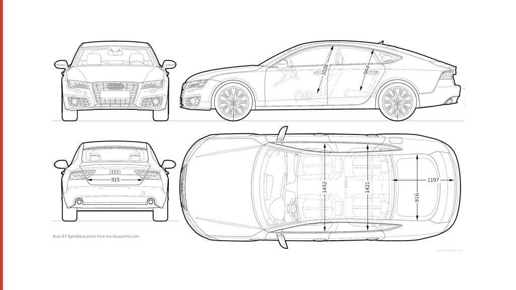 Audi A7 Sportback plans from the-blueprints.com