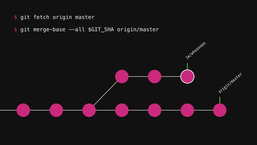 origin/master jw/whoooops $ git merge-base --al...