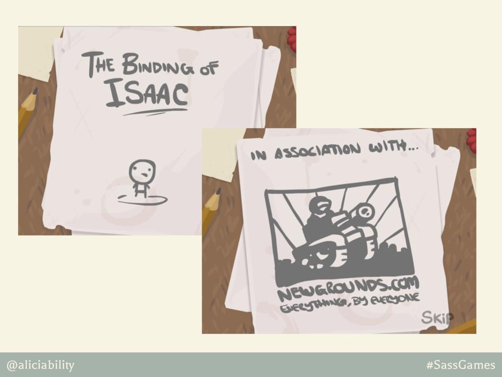 @aliciability #SassGames