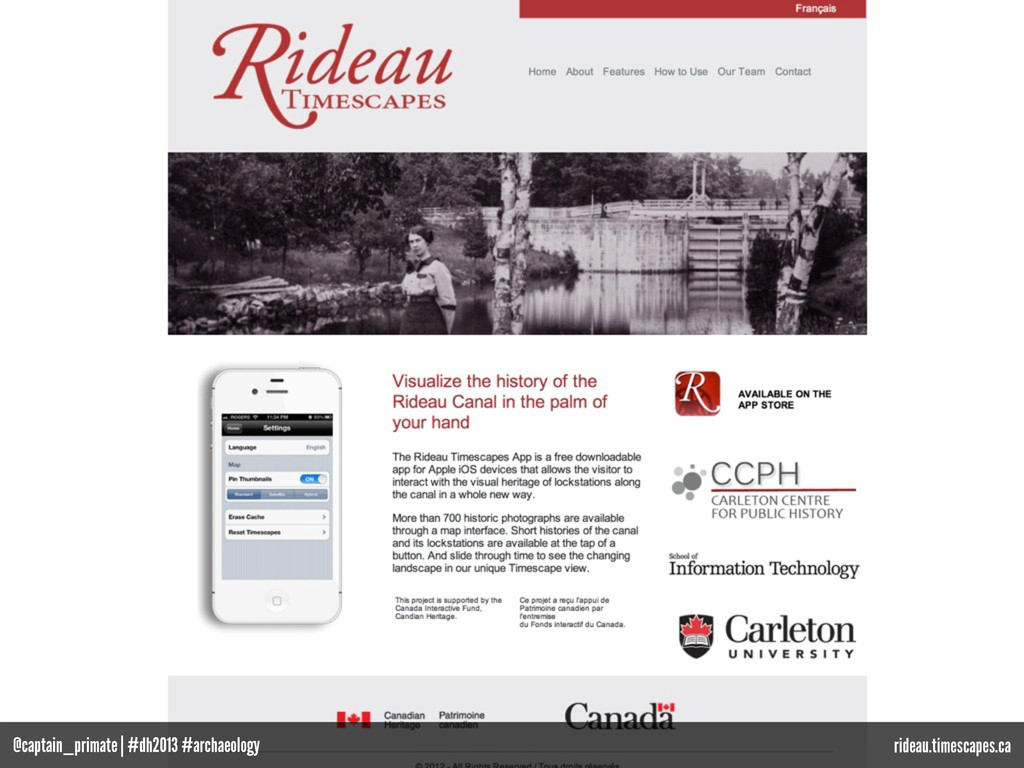 rideau.timescapes.ca @captain_primate | #dh2013...