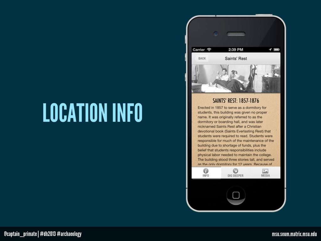 LOCATION INFO msu.seum.matrix.msu.edu @captain_...