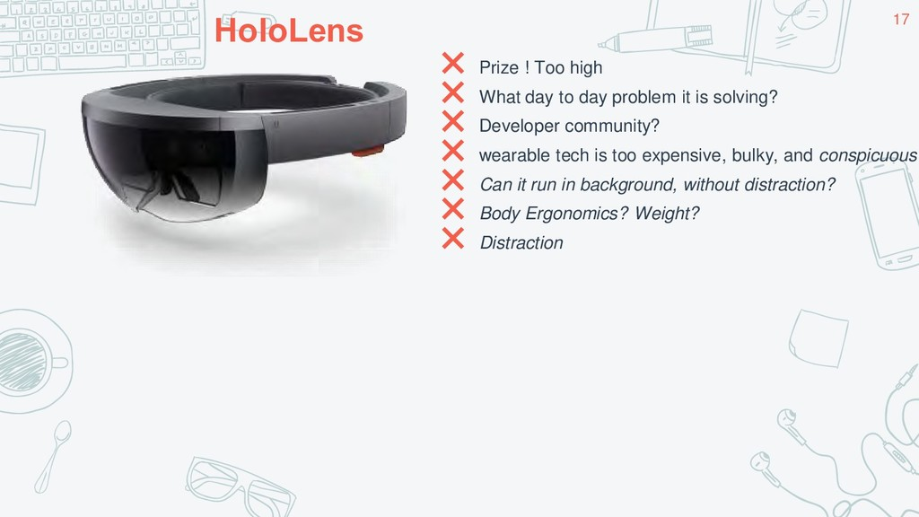 HoloLens ✖ Prize ! Too high ✖ What day to day p...