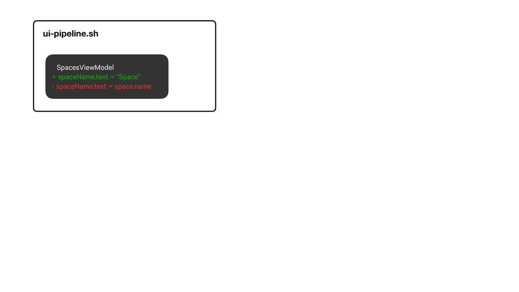 "SpacesViewModel + spaceName.text = ""Space"" - sp..."