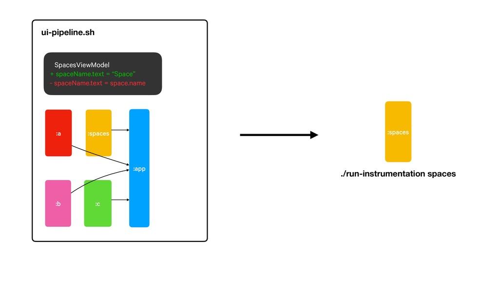 :spaces ./run-instrumentation spaces :app :spac...