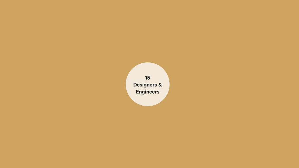80 Designers & Engineers 15 Designers & Enginee...