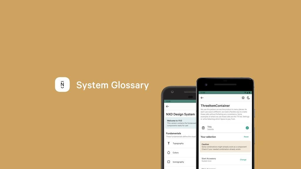 System Glossary
