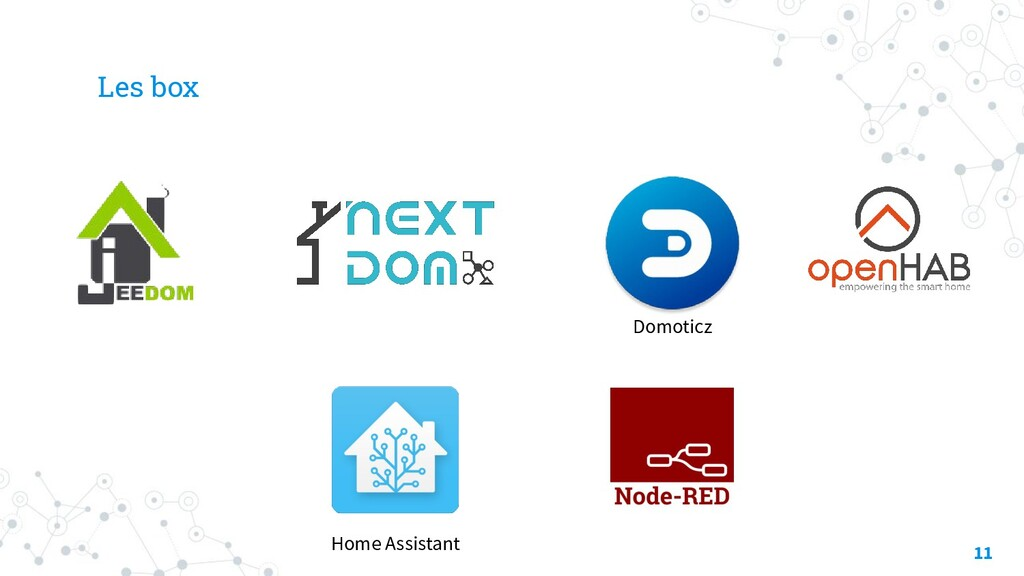 Les box 11 Domoticz Home Assistant