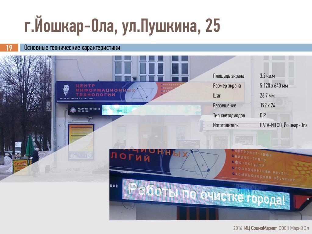 г.Йошкар-Ола, ул.Пушкина, 25 19 2016 ИЦ СоциоМа...