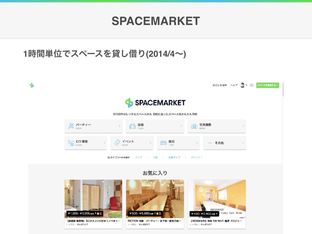 1ؒ୯ҐͰεϖʔεΛି͠आΓ(2014/4ʙ) SPACEMARKET