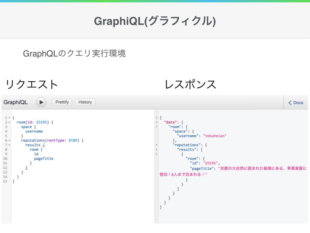 GraphiQL(άϥϑΟΫϧ) ϦΫΤετ Ϩεϙϯε GraphQLͷΫΤϦ࣮ߦڥ