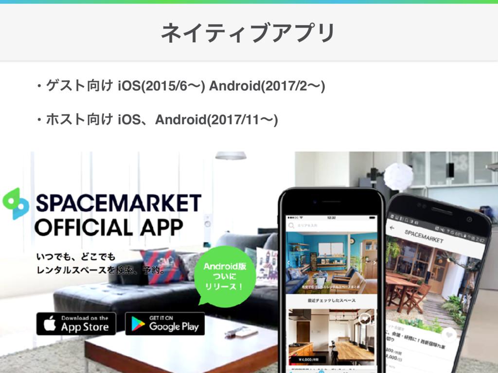 • ήετ͚ iOS(2015/6ʙ) Android(2017/2ʙ) • ϗετ͚ i...