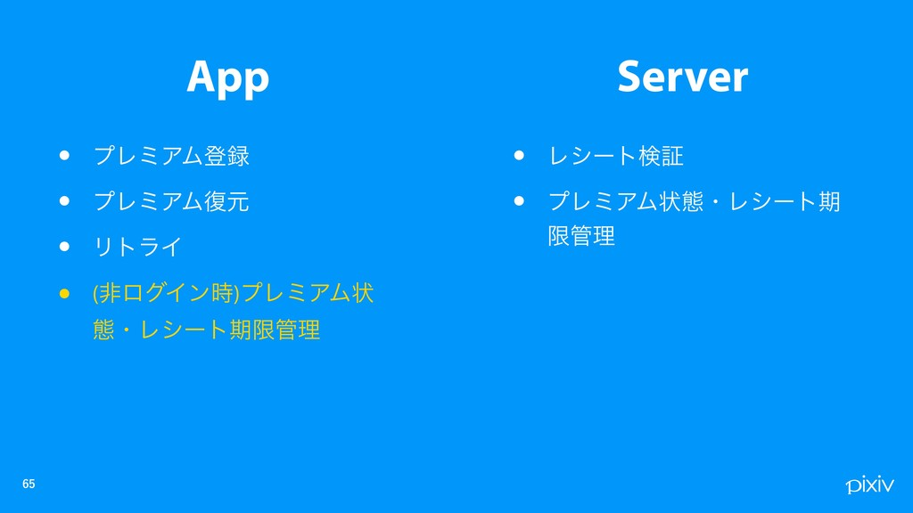 App Server • Ϩγʔτݕূ • ϓϨϛΞϜঢ়ଶɾϨγʔτظ ݶཧ • ...