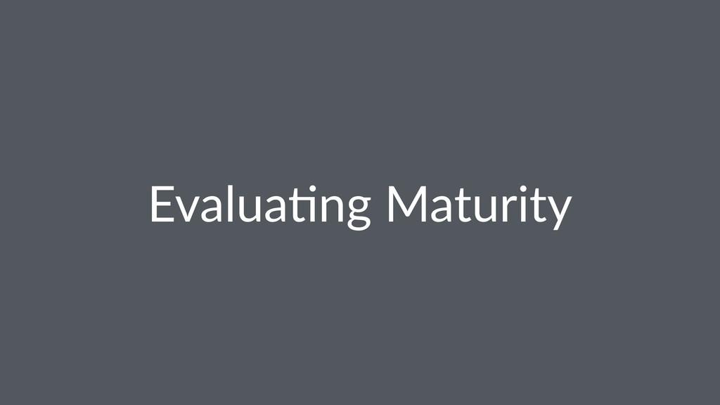 Evalua(ng Maturity