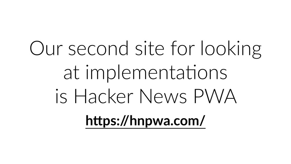 Our second site for looking at implementaUons i...