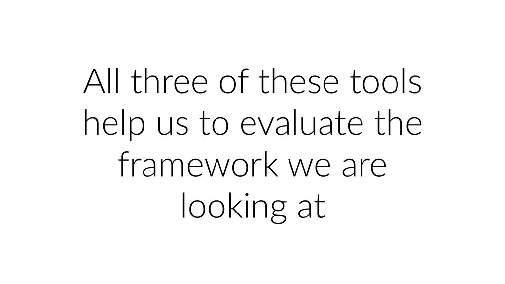 All three of these tools help us to evaluate th...