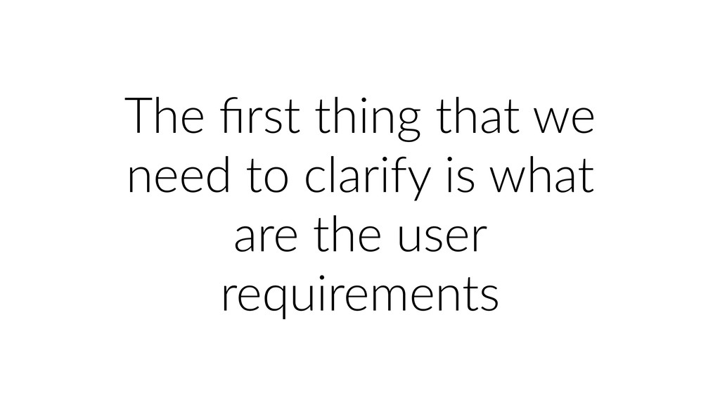 The first thing that we need to clarify is what ...