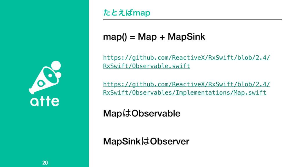 ͨͱ͑NBQ 20 map() = Map + MapSink https://github...