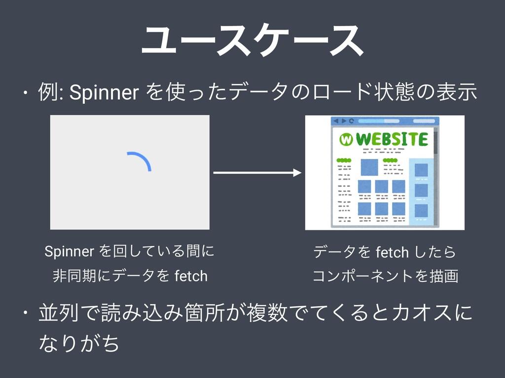 Ϣʔεέʔε • ྫ: Spinner Λͬͨσʔλͷϩʔυঢ়ଶͷදࣔ • ฒྻͰಡΈࠐΈՕ...