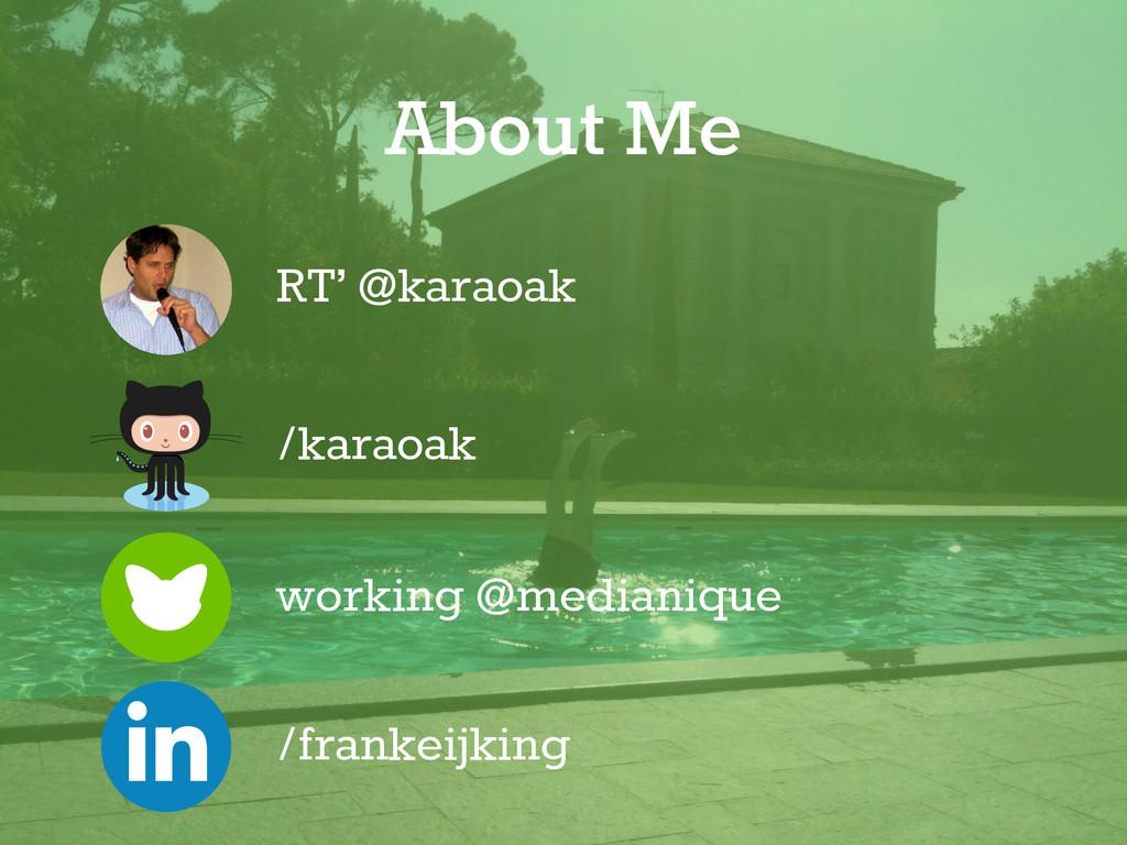 working @medianique RT' @karaoak /frankeijking ...