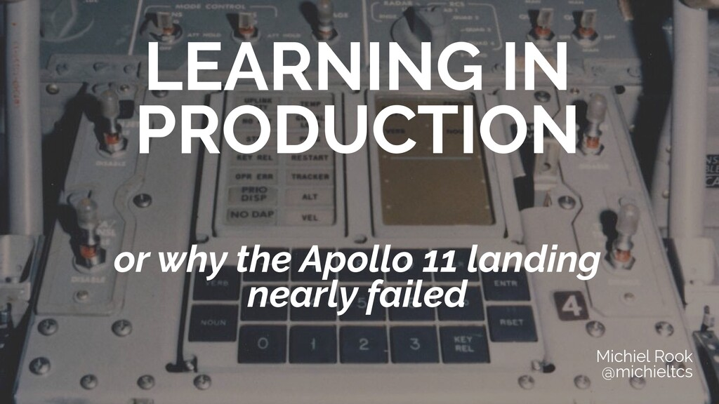 LEARNING IN PRODUCTION   