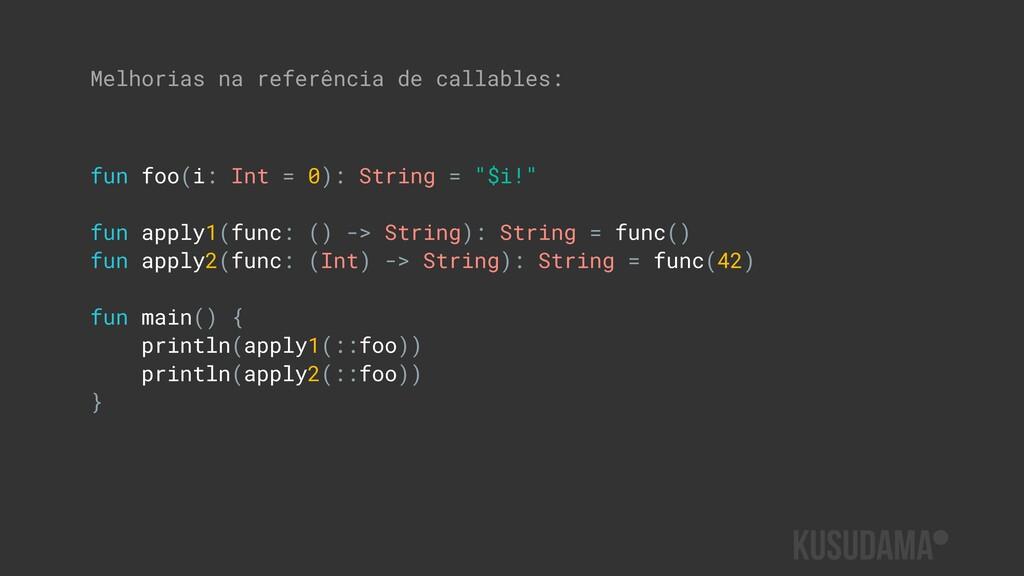 """fun foo(i: Int = 0): String = """"$i!"""" fun apply1(..."""