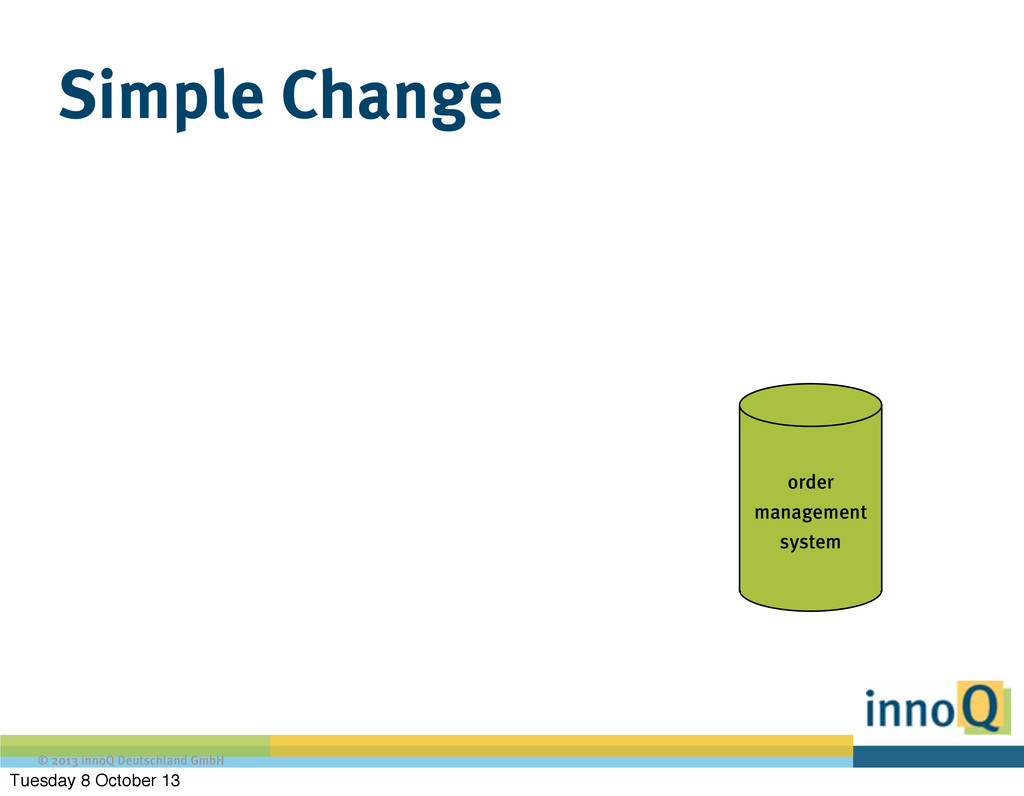 © 2013 innoQ Deutschland GmbH Simple Change ord...