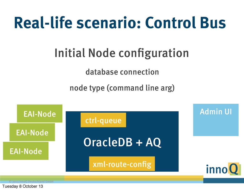 © 2013 innoQ Deutschland GmbH OracleDB + AQ Rea...