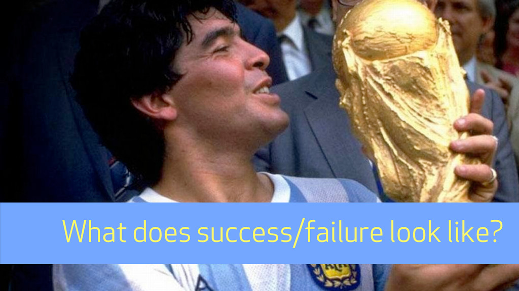 What does success/failure look like?