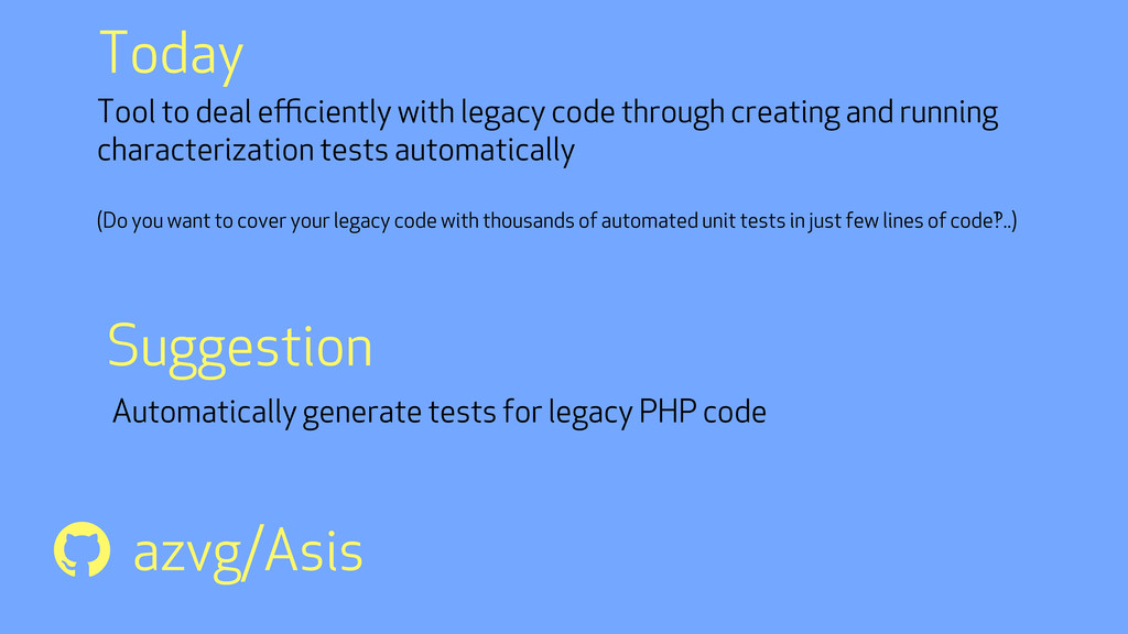 Tool to deal efficiently with legacy code through...