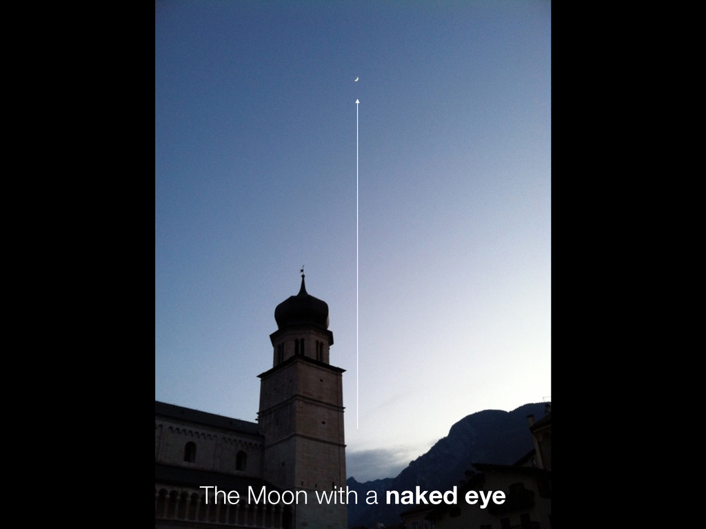 A naked eye The Moon with a naked eye