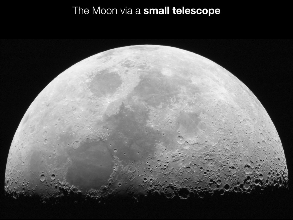 The Moon via a small telescope