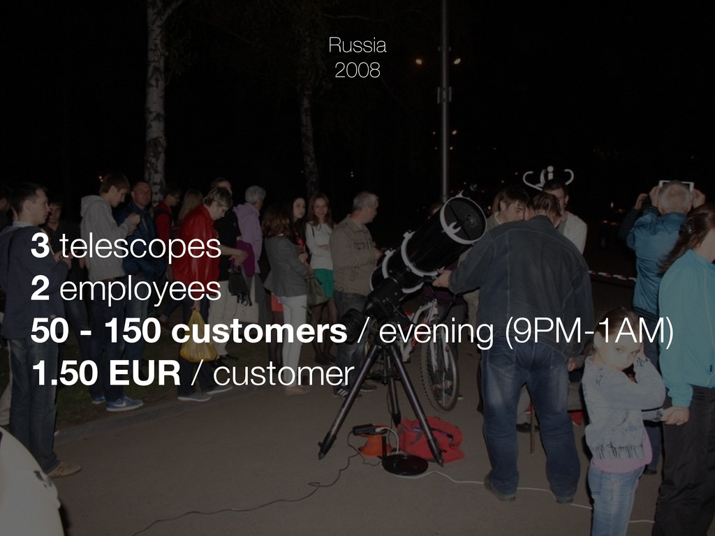 Russia 2008 3 telescopes 2 employees 50 - 150 c...