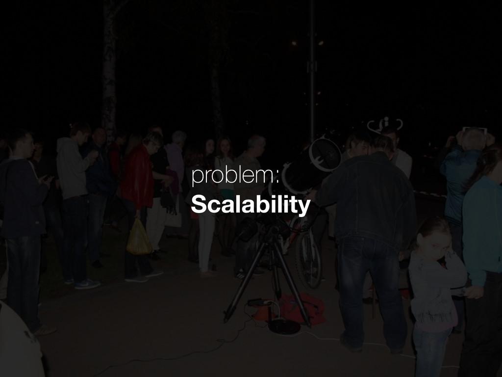 problem: Scalability