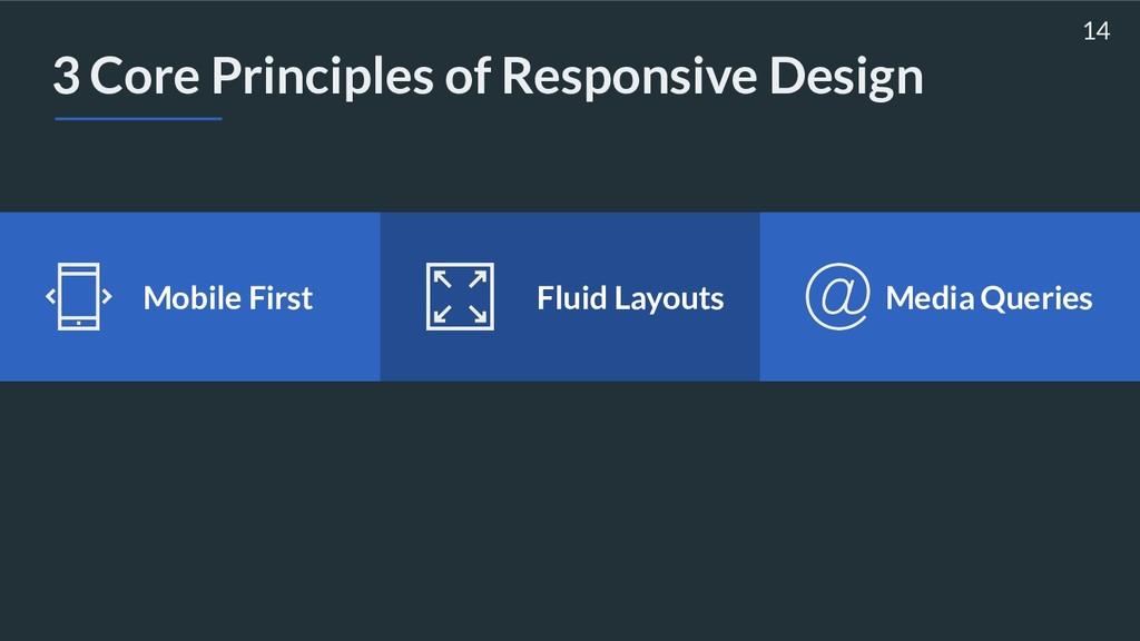 3 Core Principles of Responsive Design 14 Media...
