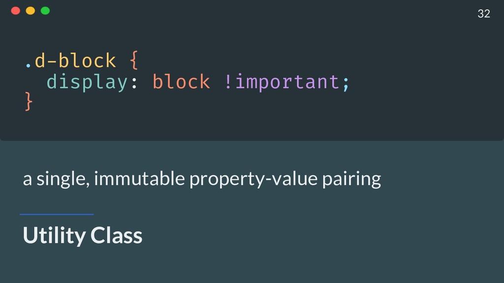 Utility Class .d-block { display: block !impor...